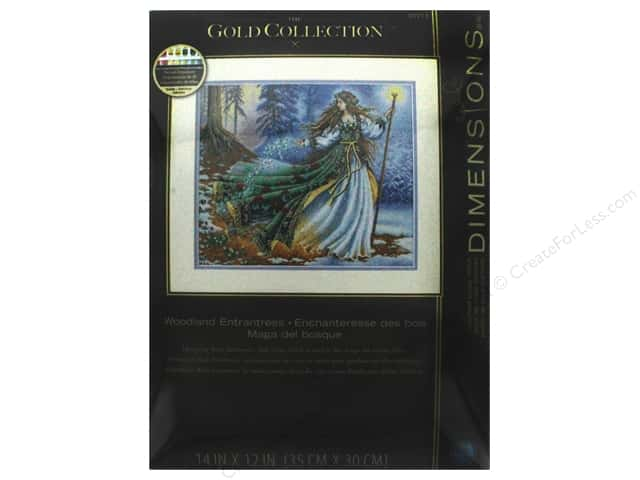 "Dimensions Cross Stitch Kit Gold Collection 14""x 12"" Woodland Enchantress"