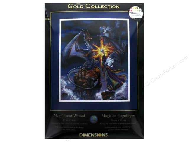 "Dimensions Cross Stitch Kit Gold Collection 12""x 14"" Magnificent Wizard"