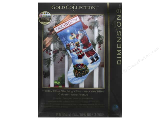 Dimensions Cross Stitch Kit Holiday Glow Stocking