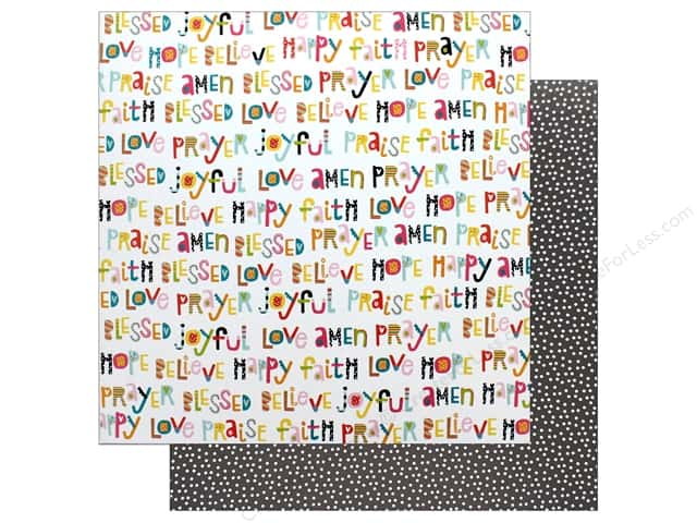"""Bella Blvd Collection Delight In His Day Paper 12""""x 12"""" Happy Heart (25 pieces)"""