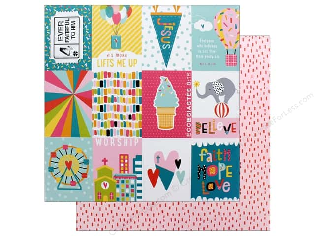 """Bella Blvd Collection Delight In His Day Paper 12""""x 12"""" 3x4s (25 pieces)"""