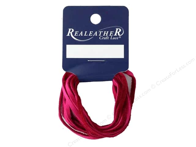 REALEATHER by Silver Creek Lace Suede 1/8 in. x 8 yd Card Fuchsia