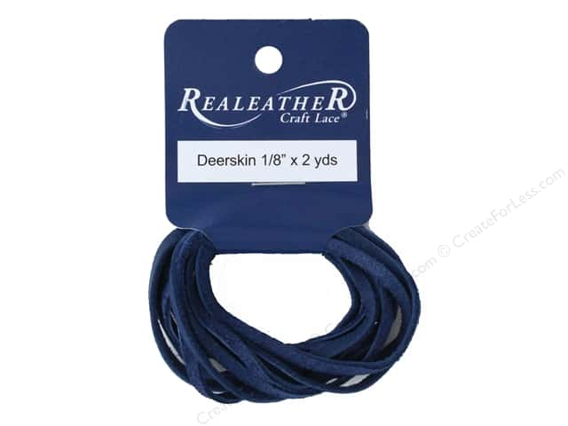 REALEATHER by Silver Creek Lace Suede 1/8 in. x 8 yd Card Cadet Blue