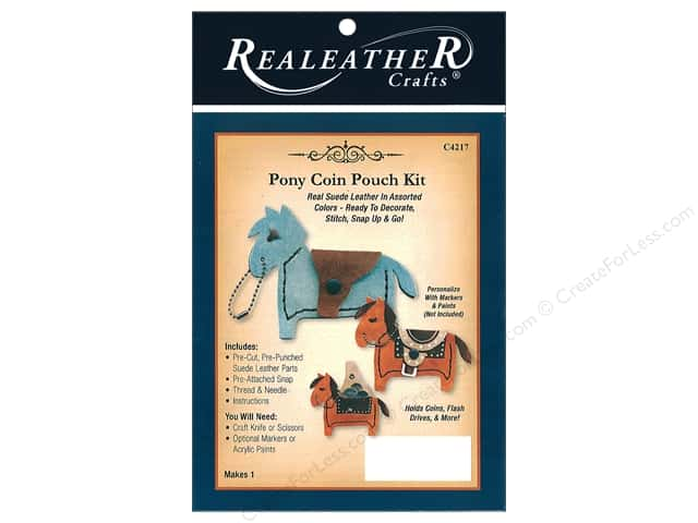 REALEATHER by Silver Creek Kit Pony Coin Pouch