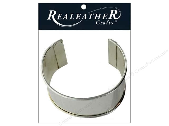 REALEATHER by Silver Creek Findings Cuff Blank Bracelet 2 in. Nickel