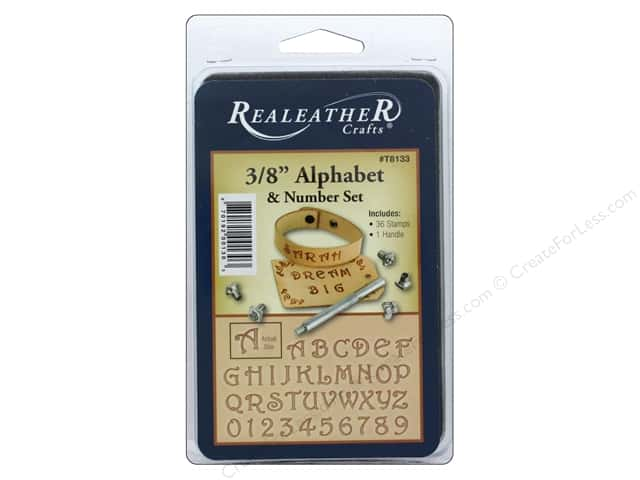 REALEATHER by Silver Creek Tool Stamp Set 3/8 in. Alphabet & # Fancy