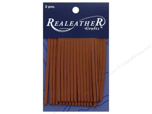 REALEATHER by Silver Creek Leather Deerskin Fringe 2 in. x 3 in.  2 pc Saddle Tan