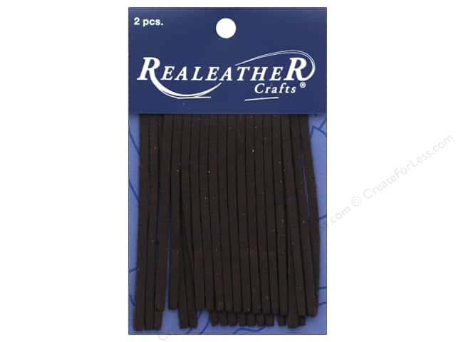 REALEATHER by Silver Creek Leather Deerskin Fringe 2 in. x 3 in. 2 pc Chocolate