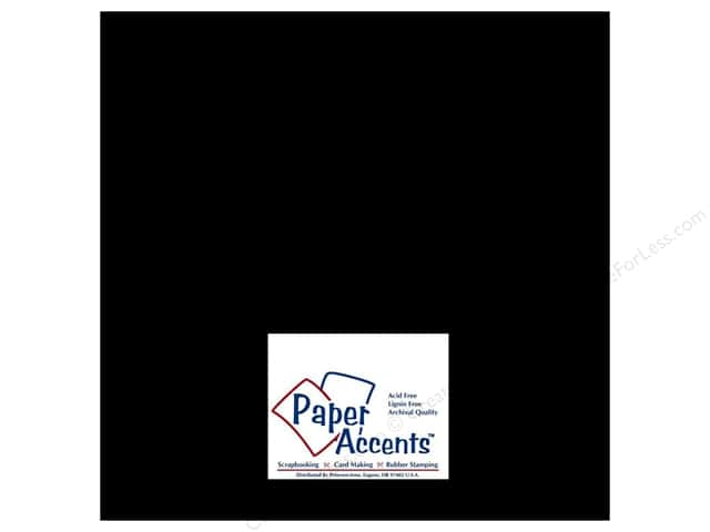 Paper Accents Cardstock 12 x 12 in. Glossy Black 5 pc.