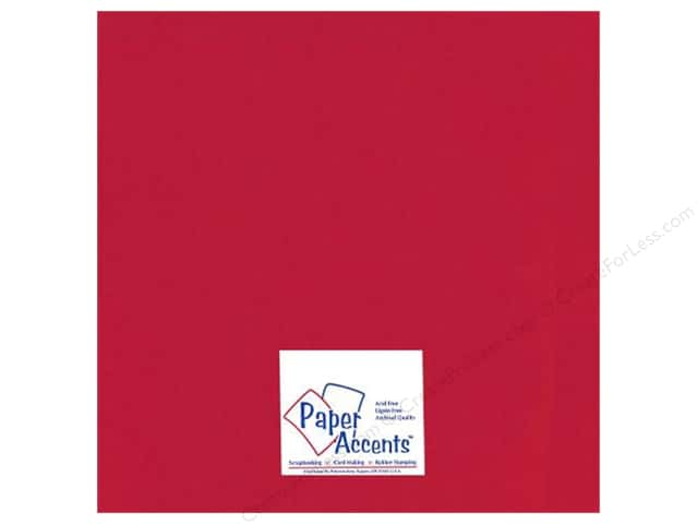 Paper Accents Cardstock 12 x 12 in. Glossy Red 5 pc.