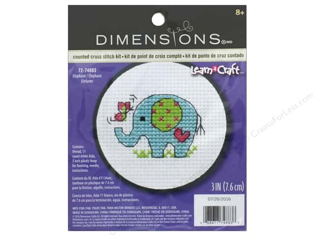 Dimensions Cross Stitch Kit Elephant