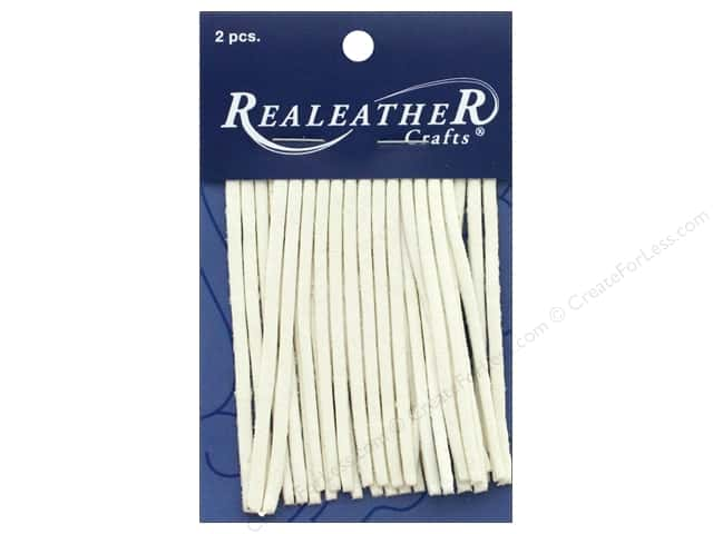 REALEATHER by Silver Creek Leather Deerskin Fringe 2 in. x 3 in. 2 pc White