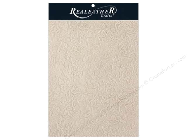 REALEATHER by Silver Creek Leather Trim 8.5 in. x 11 in. Acanthus Natural