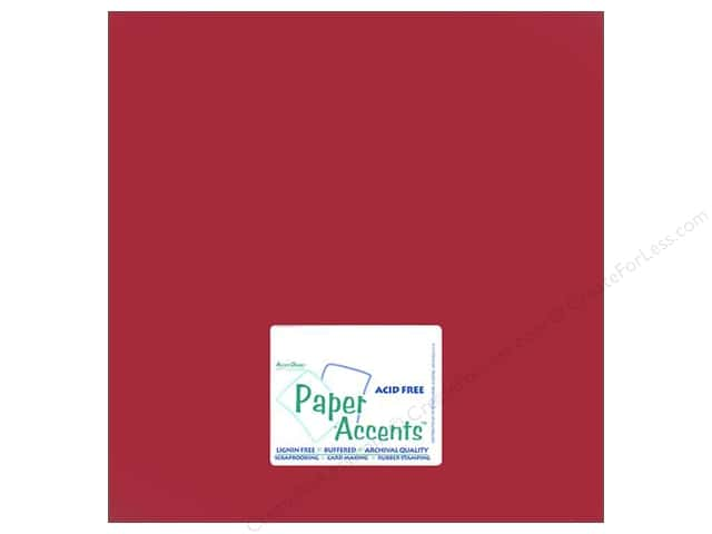 Paper Accents Cardstock 12 x 12 in. #868 Pearlized Garnet (25 sheets)