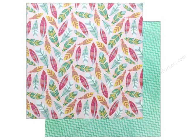 """American Crafts Collection Hello Spring Paper 12""""x 12"""" Fuzzy Bunny (25 pieces)"""