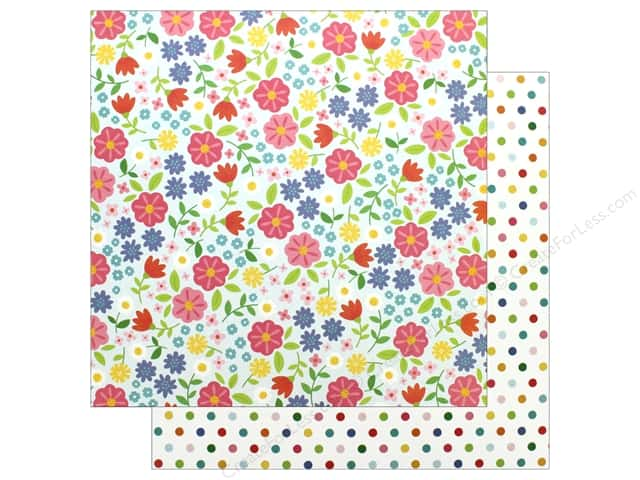 "Pebbles Collection Sunshiny Days Paper 12""x 12"" Flower Garden (25 pieces)"