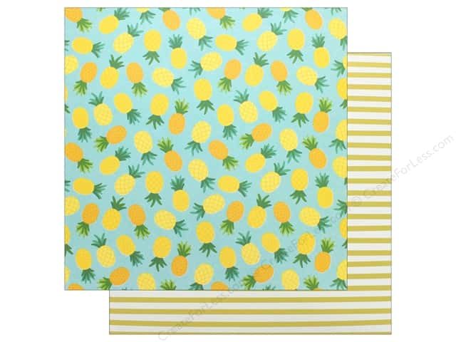"Pebbles Collection Sunshiny Days Paper 12""x 12"" Pineapple Float (25 pieces)"