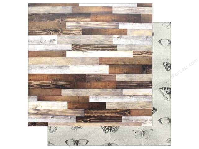 "Pebbles Collection Simple Life Paper 12""x 12"" Barn Wood (25 pieces)"