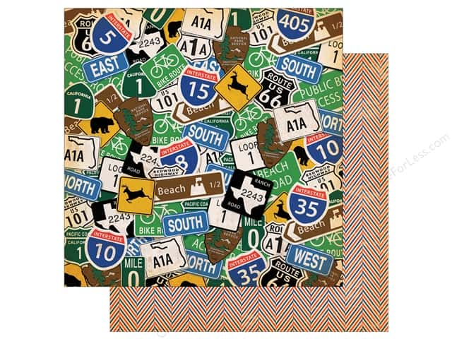 "Carta Bella Collection Are We There Yet Paper 12""x 12"" Road Signs (25 pieces)"