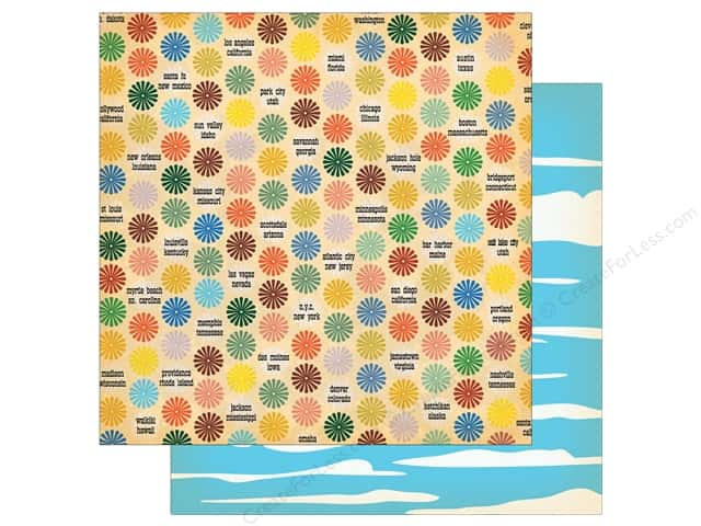"""Carta Bella Collection Are We There Yet Paper 12""""x 12"""" Cities To See (25 pieces)"""