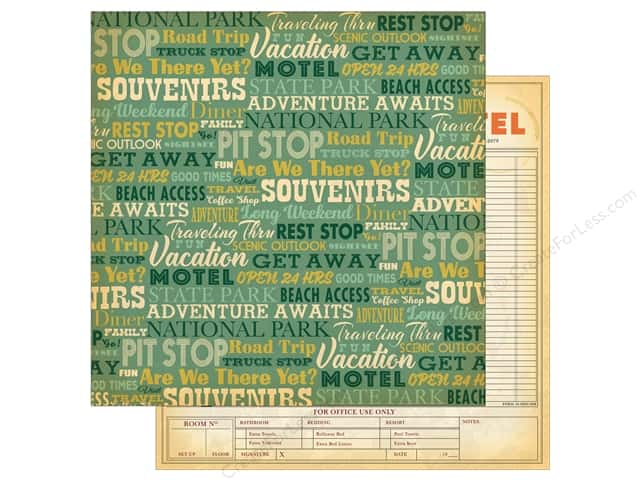 "Carta Bella Collection Are We There Yet Paper 12""x 12"" Pit Stop (25 pieces)"