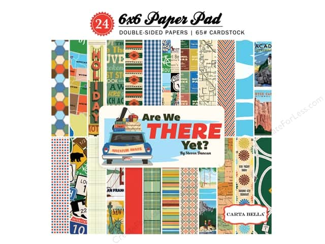 """Carta Bella Collection Are We There Yet Paper Pad 6""""x 6"""""""