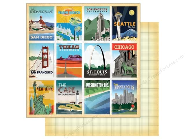 "Carta Bella Collection Are We There Yet Paper 12""x 12"" Journal Card 3""x4"" (25 pieces)"