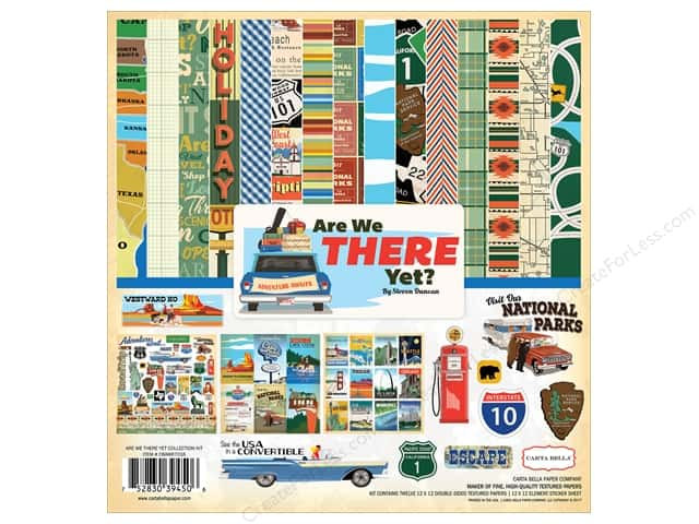 "Carta Bella Collection Are We There Yet Collection Kit 12""x 12"""