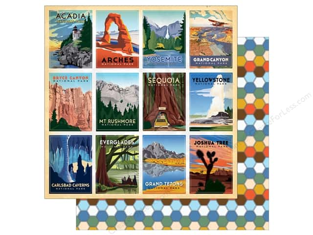 "Carta Bella Collection Are We There Yet Paper 12""x 12"" National Park (25 pieces)"