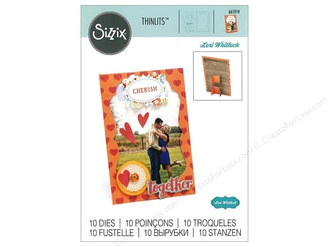 Sizzix Dies Lori Whitlock Thinlits Frame With Easel