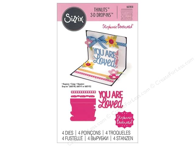 Sizzix Dies Stephanie Barnard Thinlits 3D Drop-ins You Are Loved