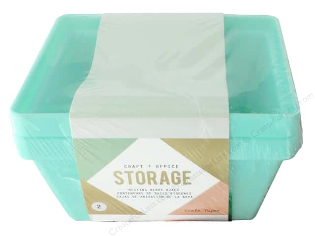 Crate Paper Craft & Offce Storage Desktop Nesting Containers