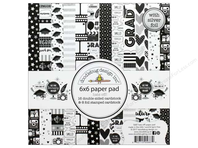 "Doodlebug Collection Hats Off Paper Pad 6""x 6"""