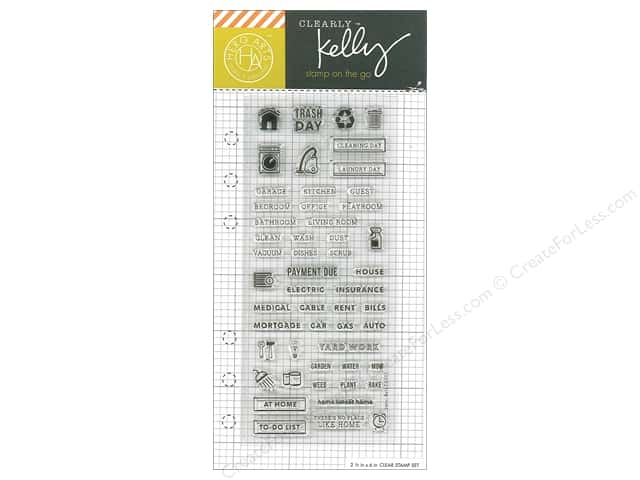 Hero Arts Poly Clear Stamp Kelly Planner Home