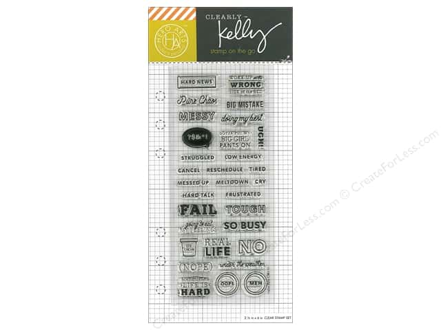 Hero Arts Poly Clear Stamp Kelly Planner Doing My Best