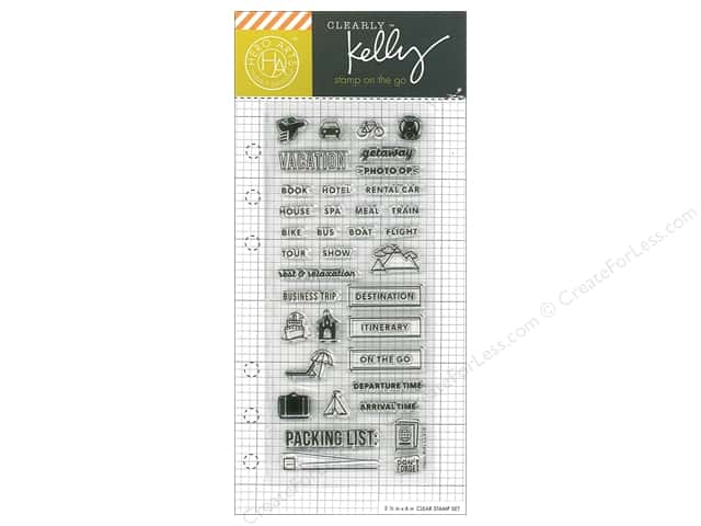 Hero Arts Poly Clear Stamp Kelly Planner Travel