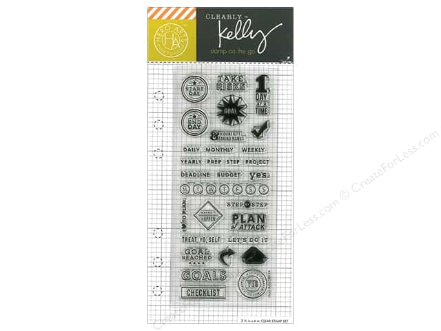 Hero Arts Poly Clear Stamp Kelly Planner Goal