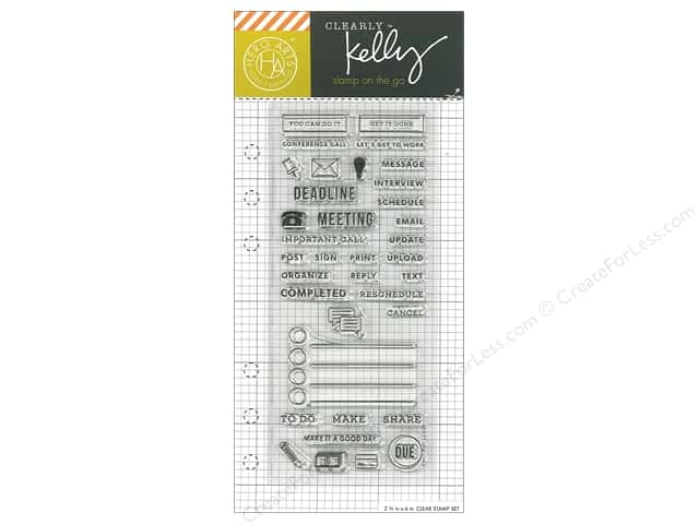 Hero Arts Poly Clear Stamp Kelly Planner Work