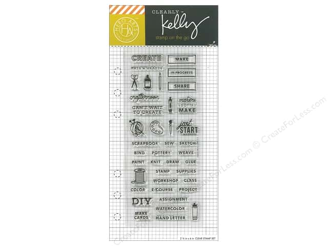 Hero Arts Poly Clear Stamp Kelly Planner Arts & Crafts