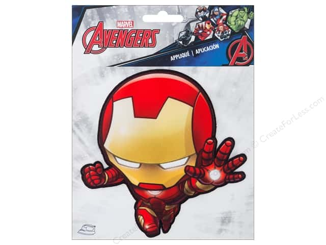 Simplicity Applique Iron On Large Iron Man Character