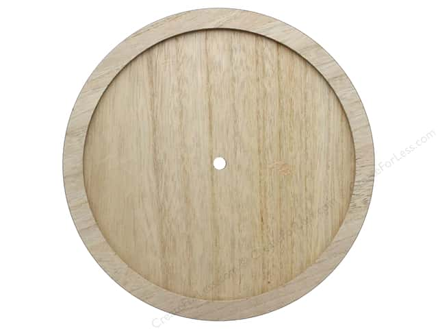 Darice Clock Face Wood Unfinished Round