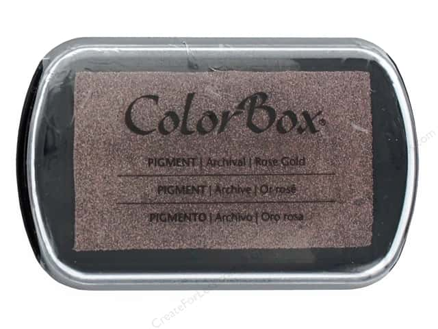 ColorBox Pigment Ink Pad Full Size Metallic Rose Gold