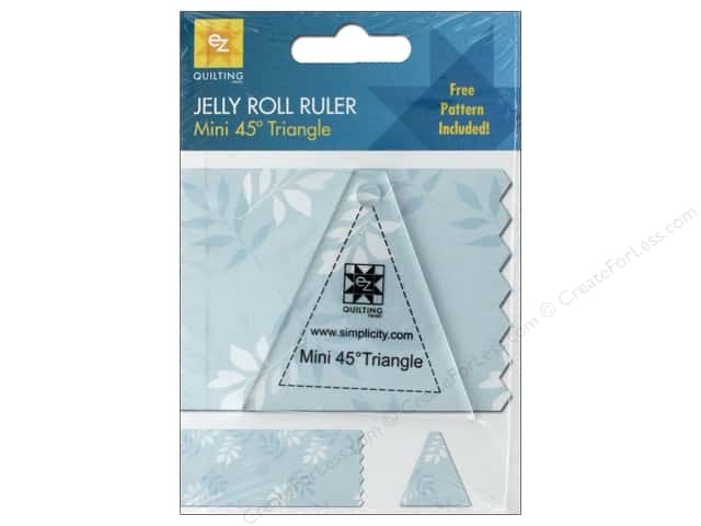 EZ Acrylic Ruler Mini Triangle 45 Degree