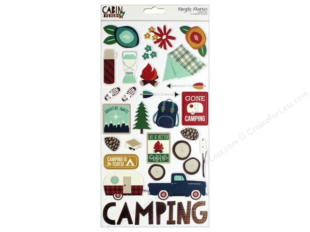 """Simple Stories Collection Cabin Fever Chipboard 6""""x 12"""""""