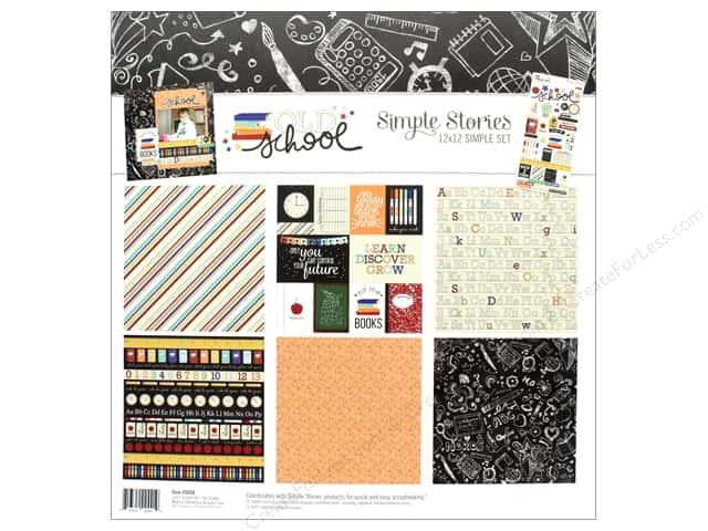 """Simple Stories Collection Old School Kit 12""""x 12"""""""
