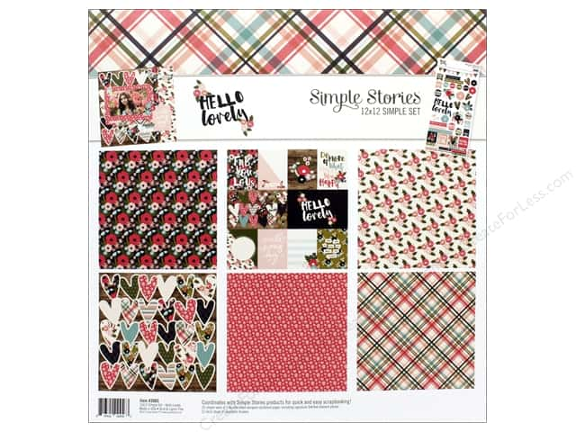 """Simple Stories Collection Hello Lovely Collection Kit 12""""x 12"""""""