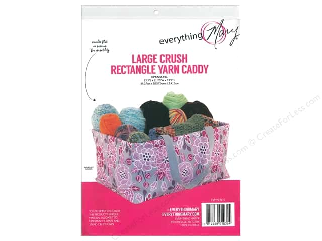Everything Mary Large Rectangle Yarn Caddy Pink Floral