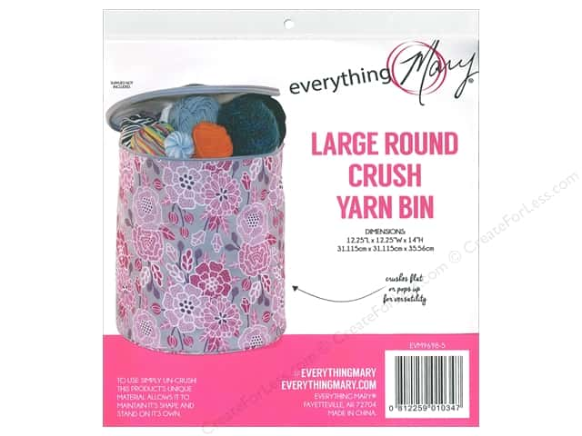 Everything Mary Large Round Yarn Bin Pink Floral