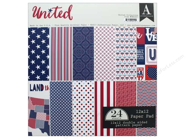 """Authentique Collection United Paper Pad 12""""x 12"""""""