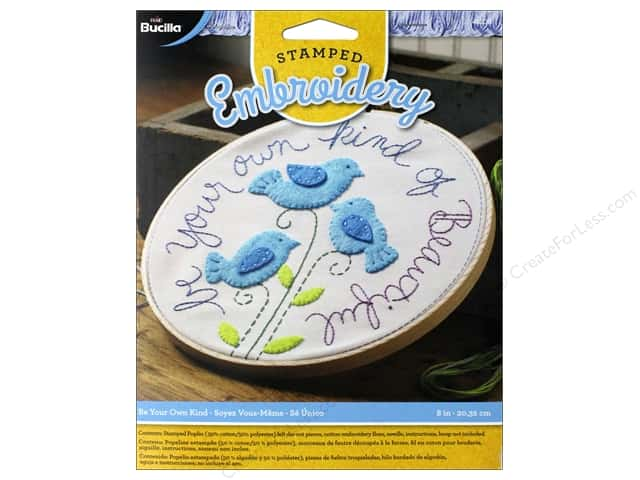 Bucilla Stamped Embroidery Kit Be Your Own Kind